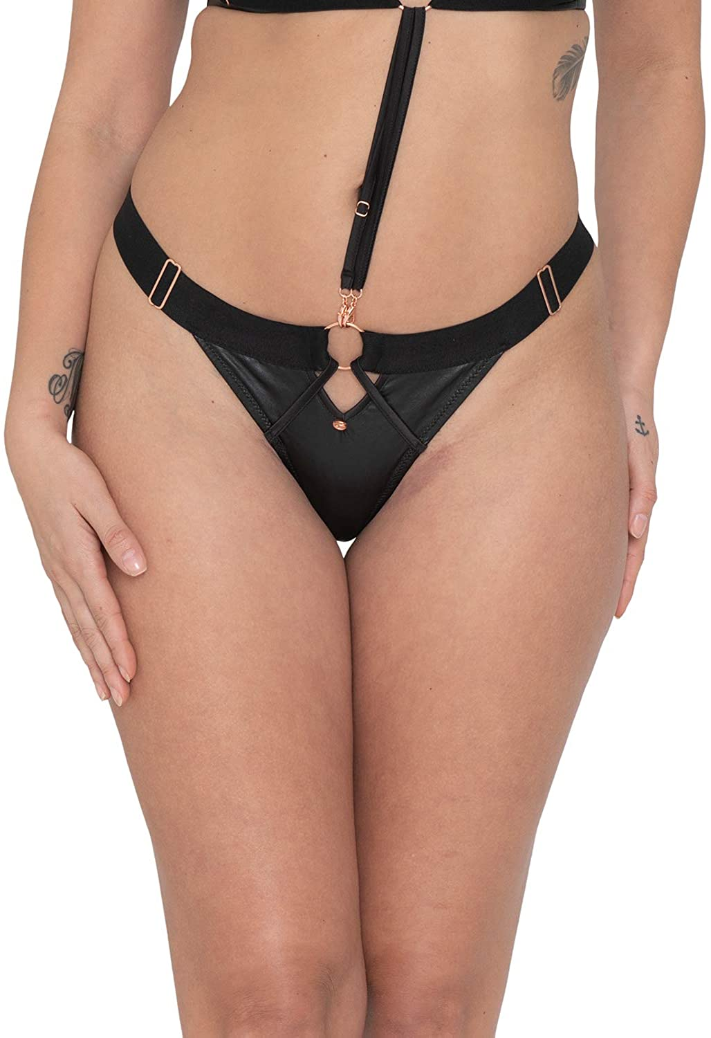 Curvy Kate Womens Scantilly Harnessed Thong Panty ST8200
