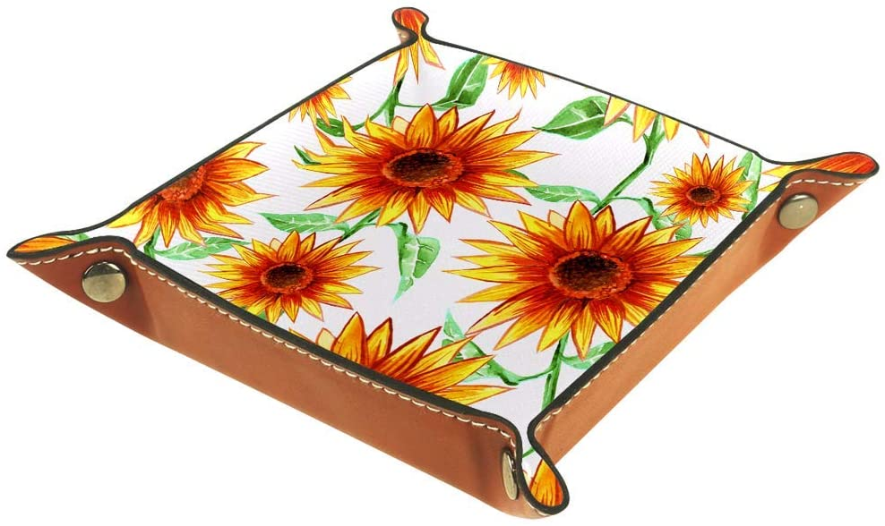 Colorful Floral 1 PU Leather Foldable Dice Rolling Tray for Watch Jewelry Storage Case Holder