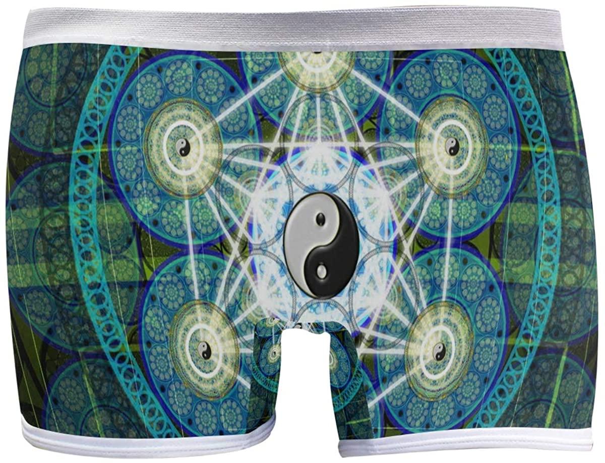 SLHFPX Sacred Geometry Women's Boyshort Panties Comfort Underwear Briefs Boy Shorts
