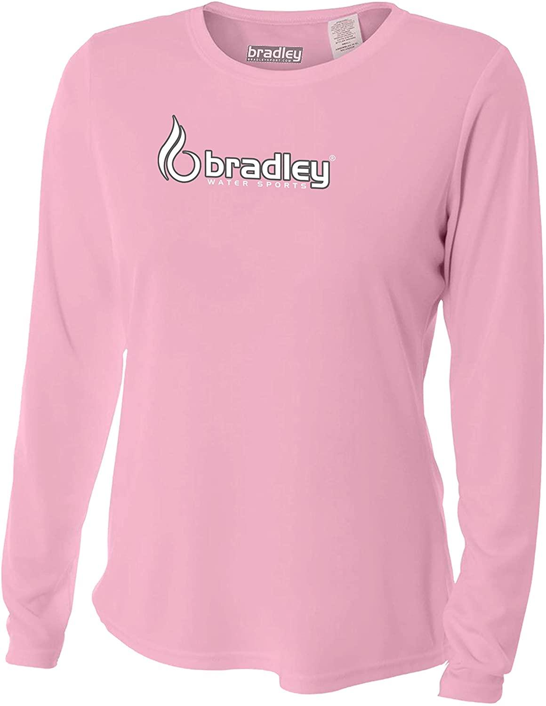 Bradley Ladies Rash Guard Womens Long Sleeve Swim Shirt Surf Swimwear SPF Sun