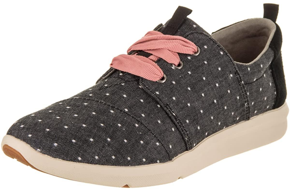 TOMS Womens Del Rey Sneaker Casual Sneakers, Black
