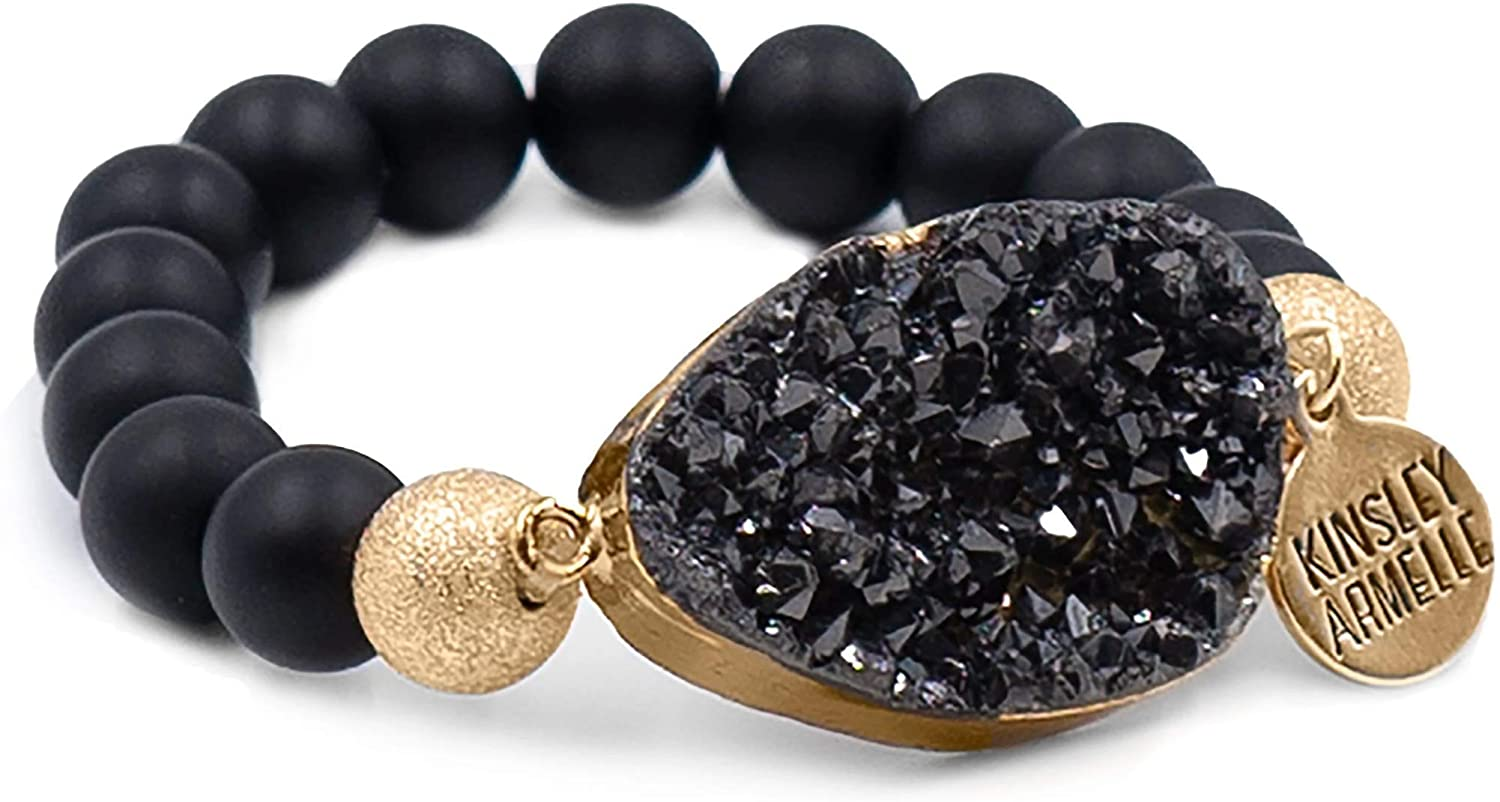 Kinsley Armelle Stone Collection - Coal Bracelet