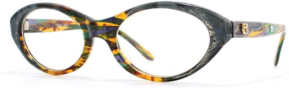 Emmanuelle Khanh 1608 A63 Grey and Orange Authentic Women Vintage Eyeglasses Frame