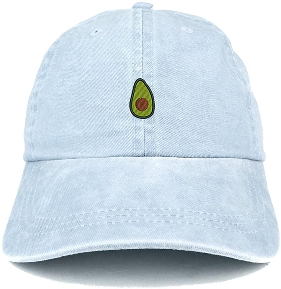 Trendy Apparel Shop Avocado Embroidered Washed Cotton Adjustable Cap