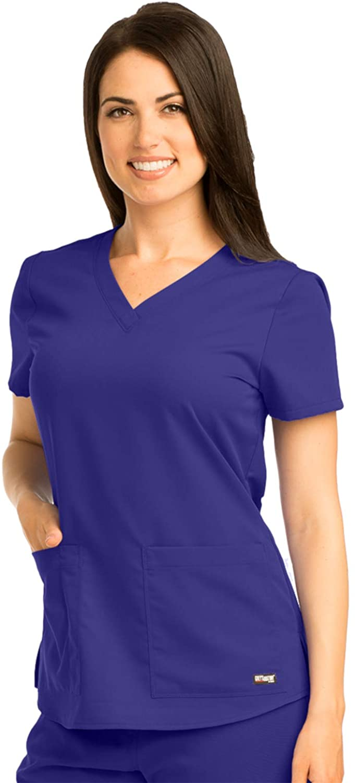 Grey's Anatomy 71166 V-Neck Top Purple Rain L
