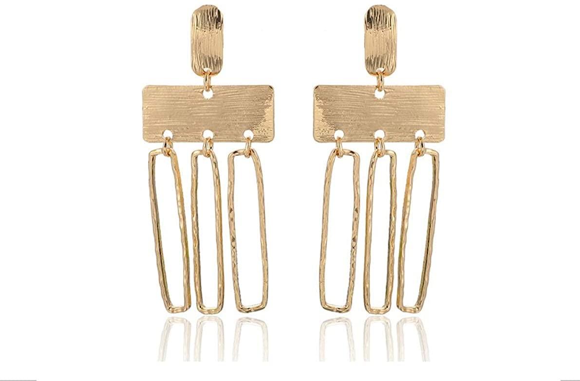 Boho Multi Loop Gold Silver Geometric Earrings Women Girls Jewelry Gift