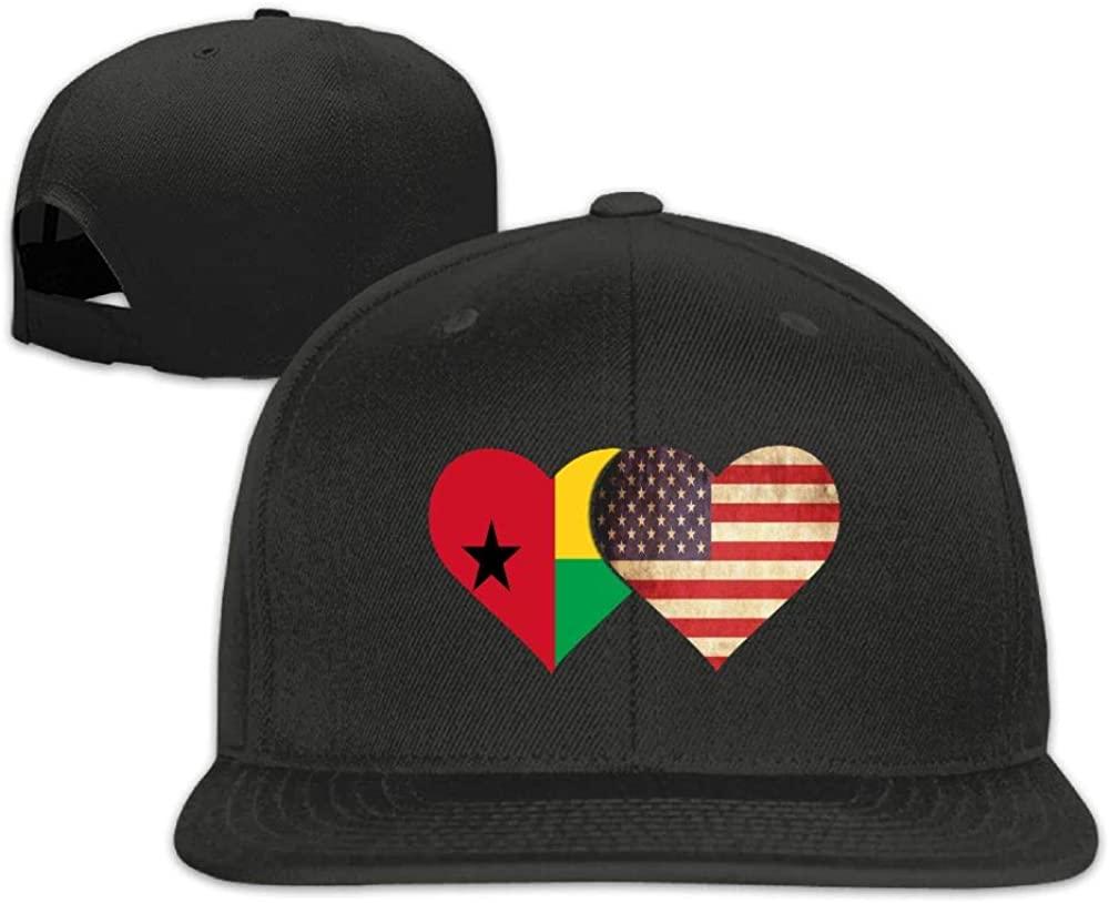 YOIGNG Guinea Flag and American Flag Baseball Caps Grid Hat Adjustable Trucker Cap Bandanas