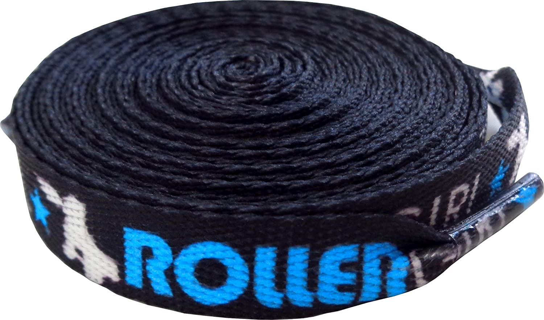 Roller Girl Shoe Laces - Black, Aqua Blue, White - From Sourpuss
