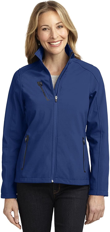Ladies Welded Soft Shell Jacket. L324 Estate Blue X-Large