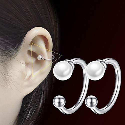 Harva Fashion Simple New Lady Pearl Ear Clip Temperament Elegant Popular Round Silver Color Earrings Female Jewelry