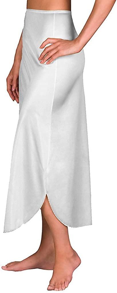 Shadowline Velrose Lingerie Plus Size Long Half Slips 35 - 2115 (Medium, White)