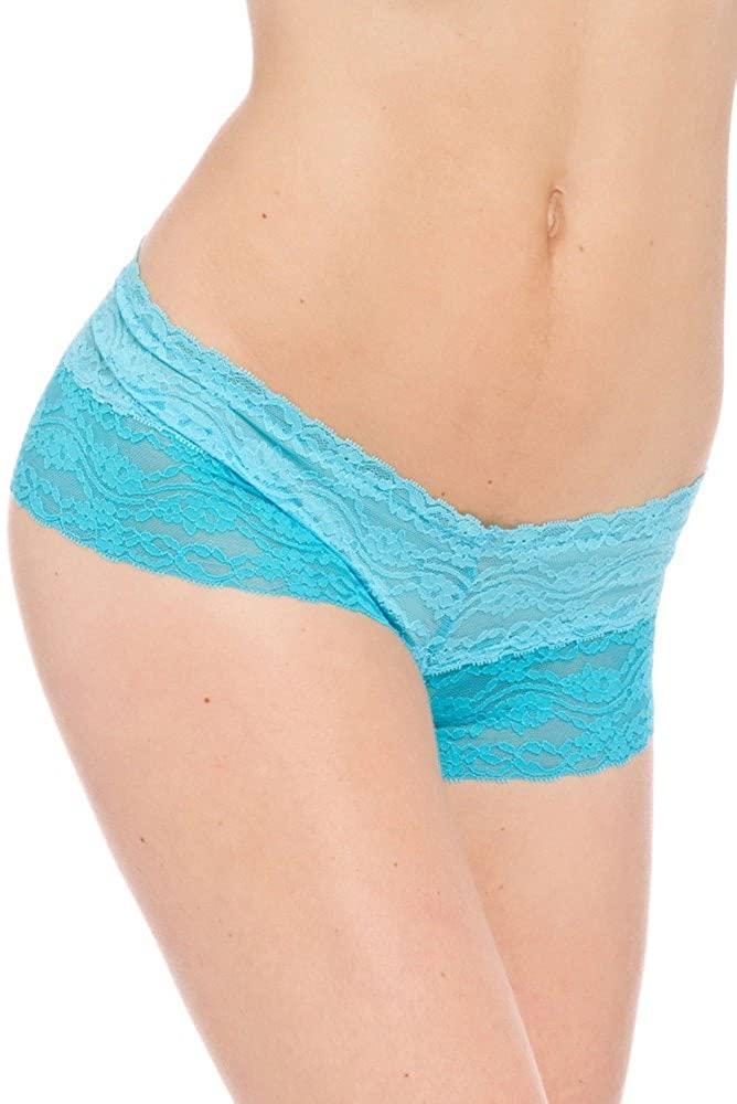 Prestige Biatta Women's Blue Two Tone Stretch Lace Cheeky
