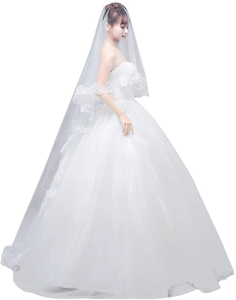 Holibanna 265cm Wedding Veil Bridal Cathedral Veil Bridal Wedding Accessory