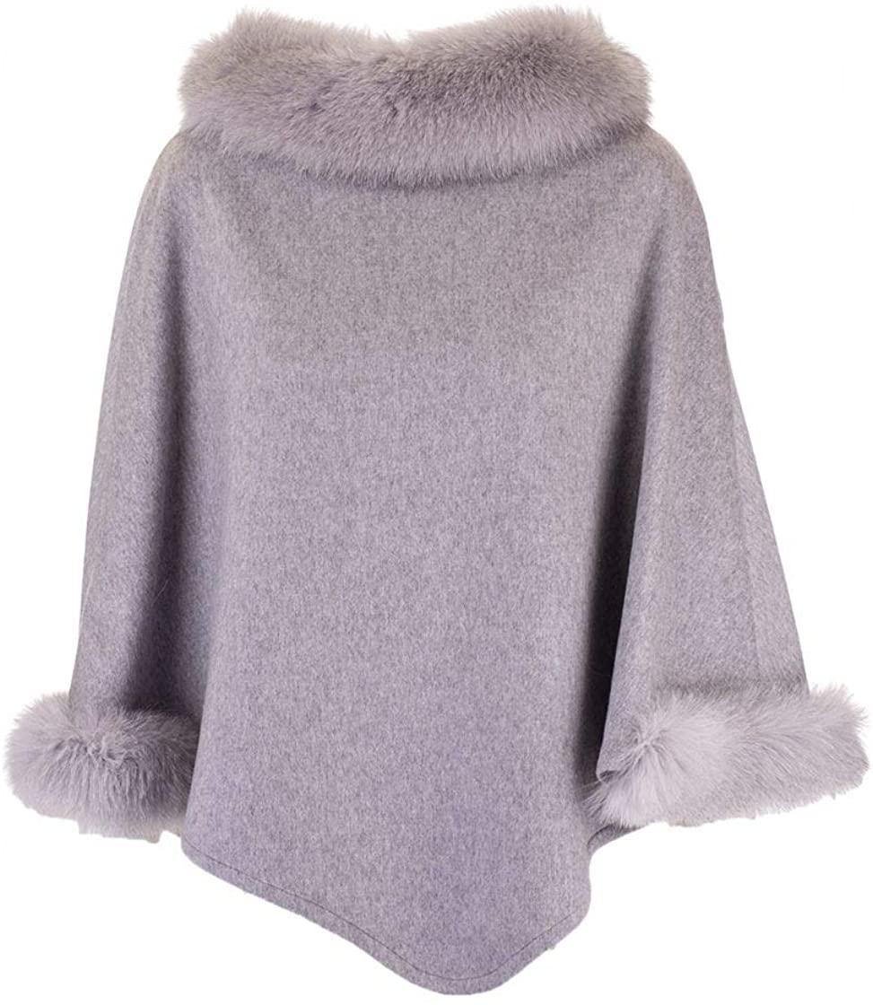 MaxMara Luxury Fashion Woman WSKIT110888009 Grey Cashmere Poncho | Fall Winter 19