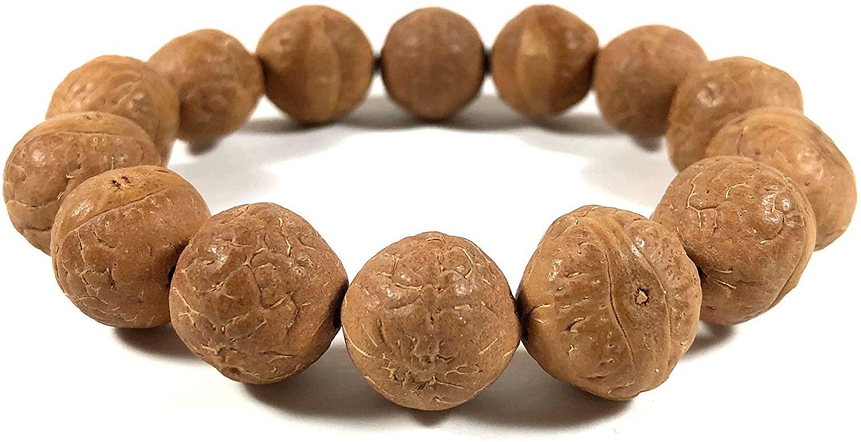 Agar Creations - Mens Womens Phoenix Eye Bodhi Seed (11mm) Mala Bracelet - Wrist Mala, Meditation Yoga Bracelet