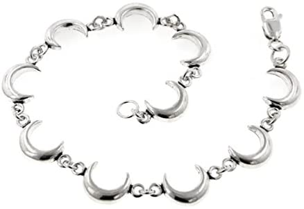 Sterling Silver Celestial Crescent Moon 7