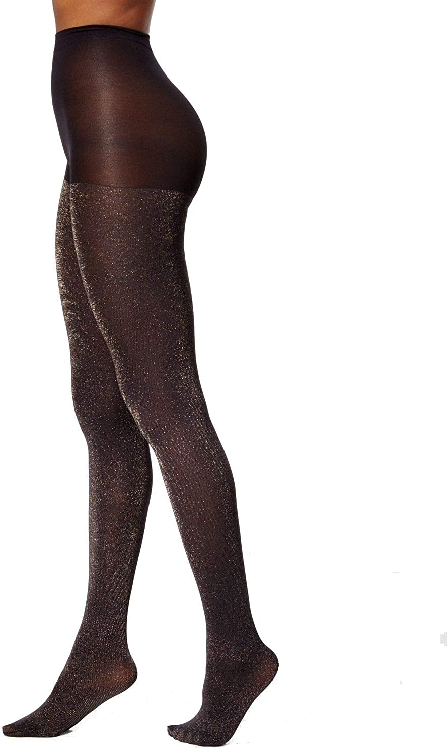 Hue Women's Control-Top Glitter Tights, Silver, Size S/M