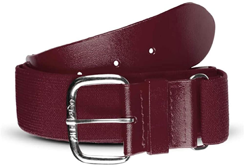 All Star Youth Adjustable Elastic Belts Maroon