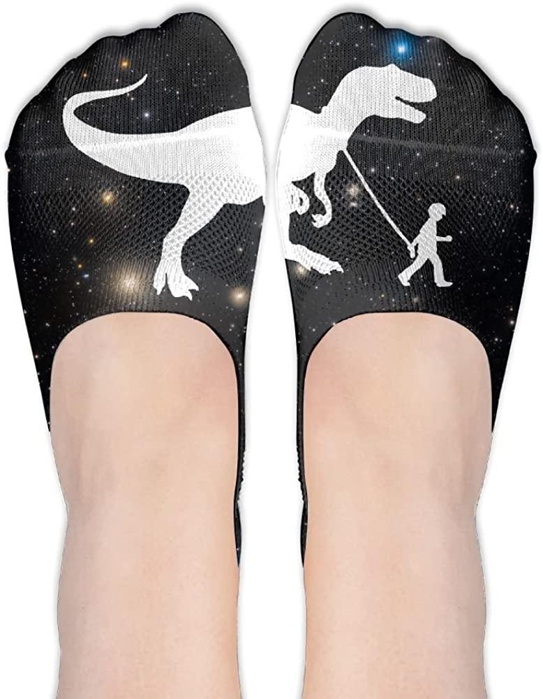 T-Rex Pet Dinosaur Womens Thin Casual No Show Socks Non Slip Flat Boat Line
