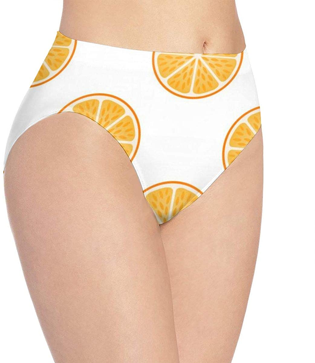 Women Underwear Fresh Orange Fruit Slices Briefs Sexy Bikini Panty