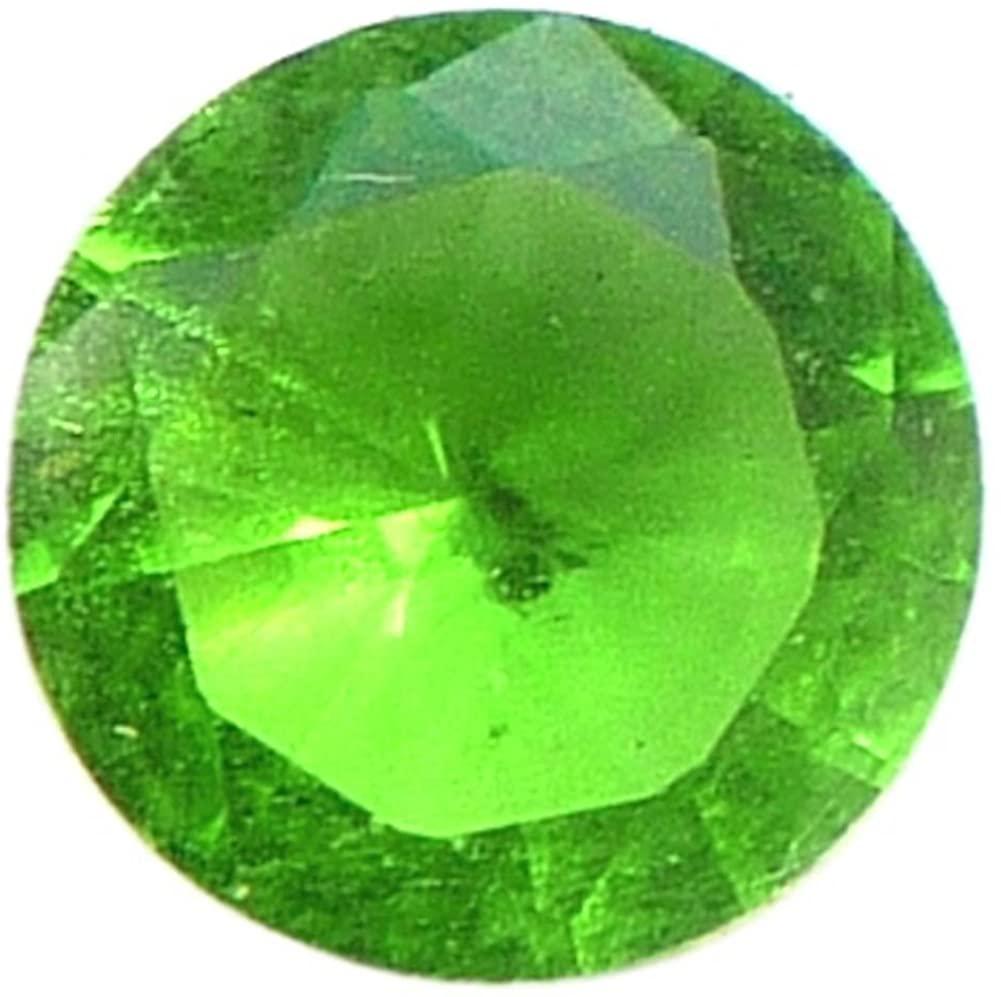 Big Round Green Stone Floating Locket Charm