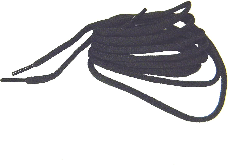 Brilliant Coal Black Oval Athletic Shoe Sneaker Laces Shoelaces - 2 Pair Pack