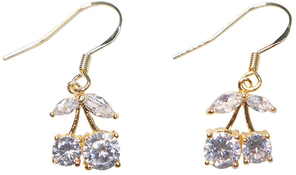 Crystal Cherry Earrings Perfect Anniversary's Day Gifts for her