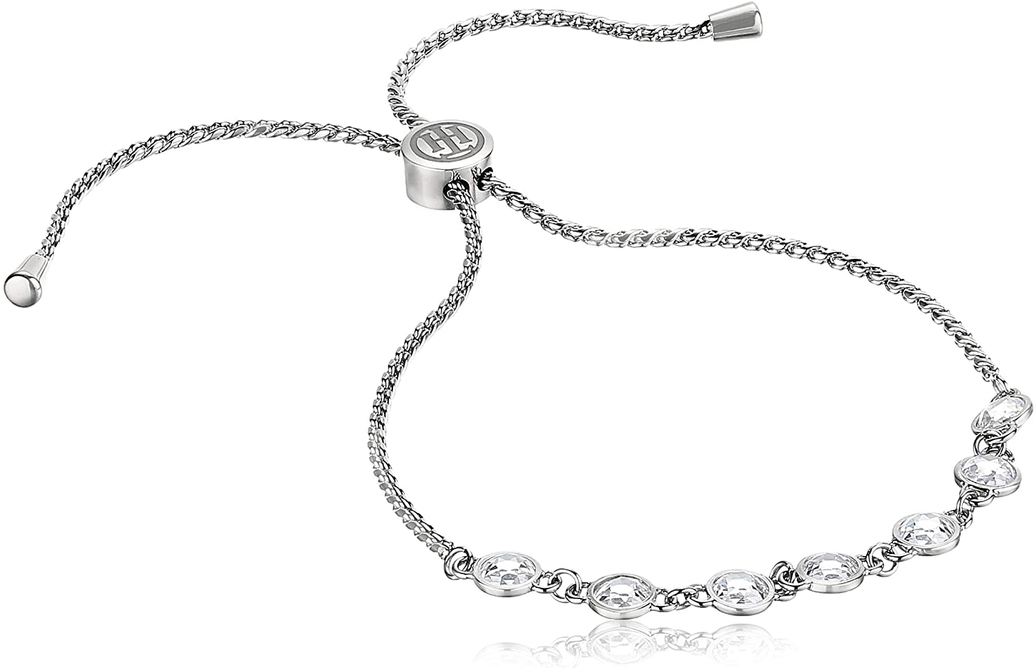 Tommy Hilfiger Women's Jewelry Stainless Steel Bracelet Embellished with Stones, Color: Silver (Model: 2780225)