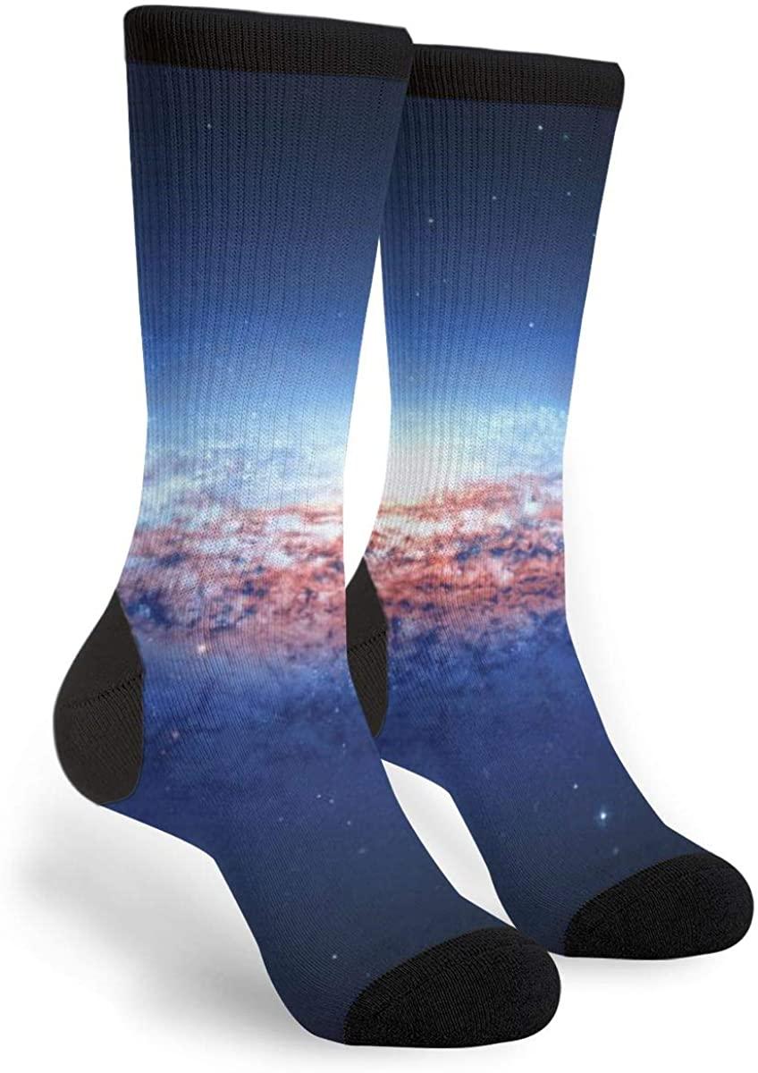 Magical Blue Space Women'S Men'S Crew Socks Casual Fun Dress Socks Long Cute Socks