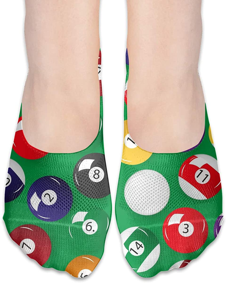 No Show Socks For Women Billiards Balls Low Cut Sock Liners Invisible Socks
