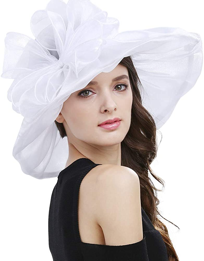 Janey&Rubbins Women's Kentucky Derby Fascinators Church Wedding Easter Tea Party Hat