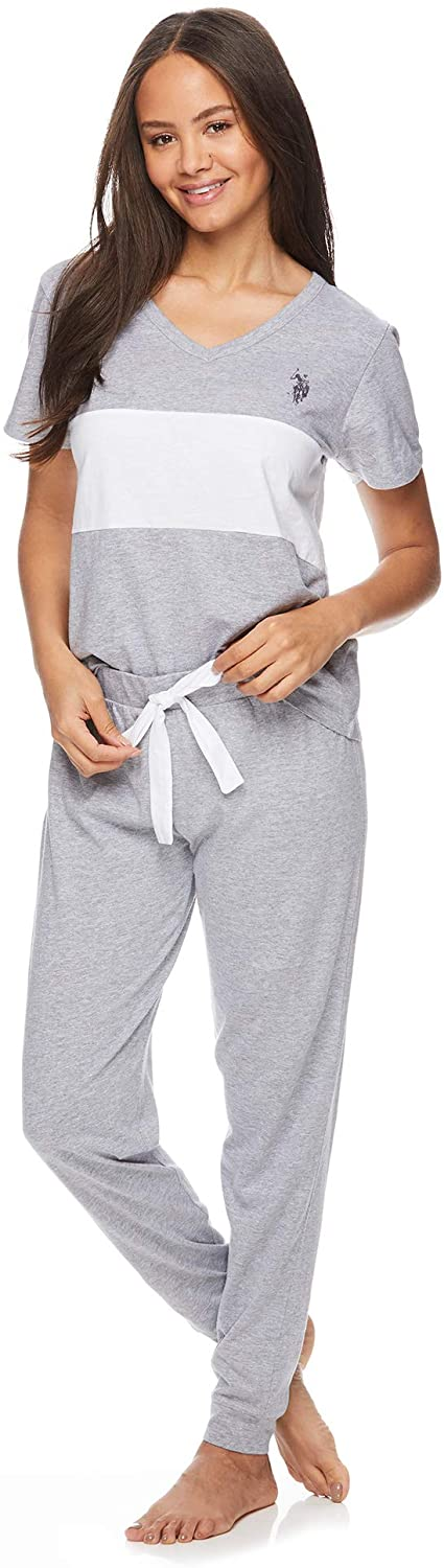 U.S. Polo Assn. Womens Short Sleeve Shirt and Lounge Pajama Pants Sleepwear Set