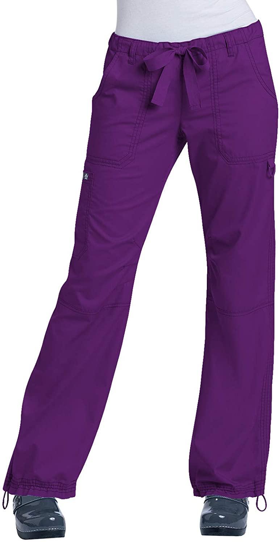 KOI Classics 701 Women's Lindsey Scrub Pant Eggplant 3XL