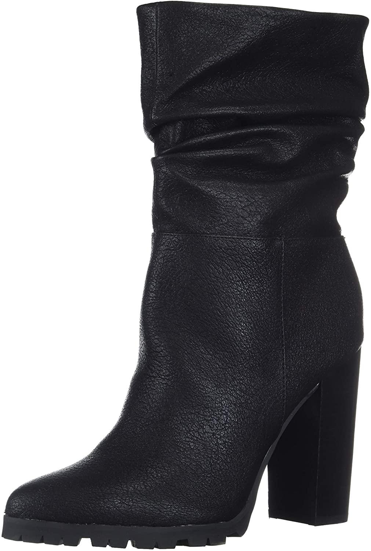 Katy Perry Women's The Raina Mid Calf Boot, Black, 6.5 M M US