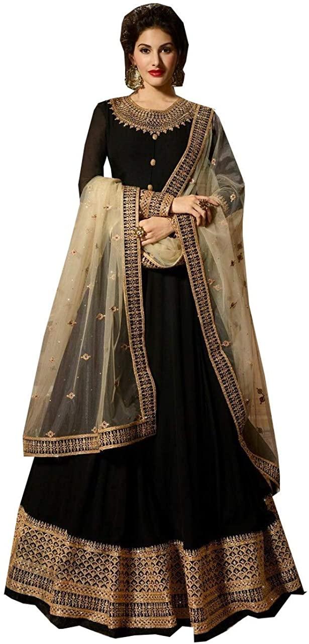 STELLACOUTURE Heavy Embroidered Indian Pakistani Ethnic wear Anarkali Salwar Kameez for Women Mohini
