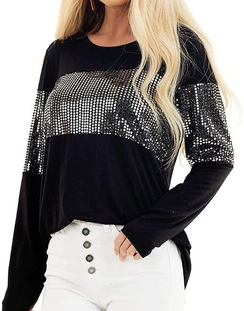 TTOOHHH Women Sweatshirt Fashion Tunic O-Neck Casual Blouse Tops Cotton Sweater Long Sleeve Tops