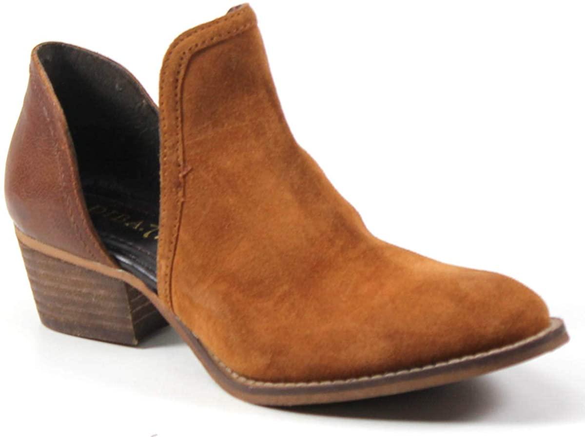 Diba True Women's Shy Town Western Two-Piece Block Heel Bootie