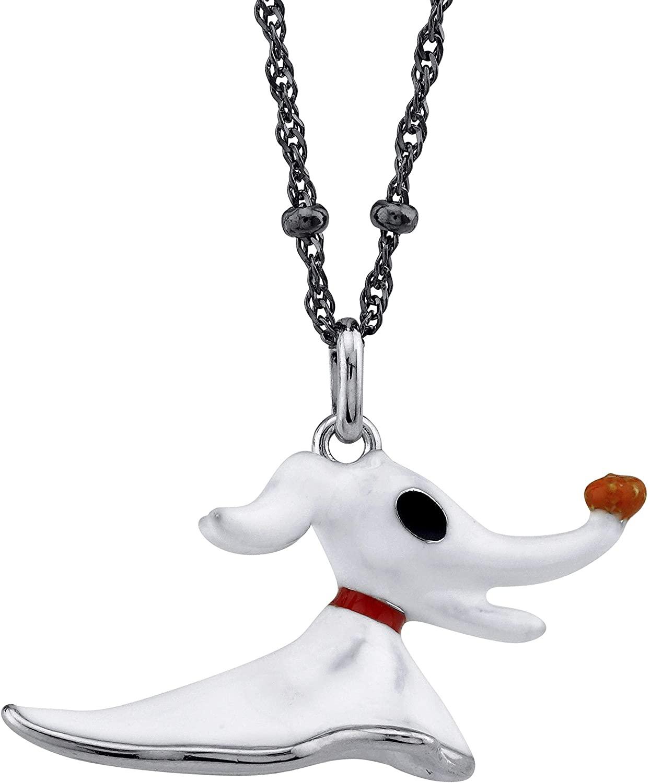 ROCKLOVE Disney Tim Burton The Nightmare Before Christmas Sterling Silver Zero Necklace