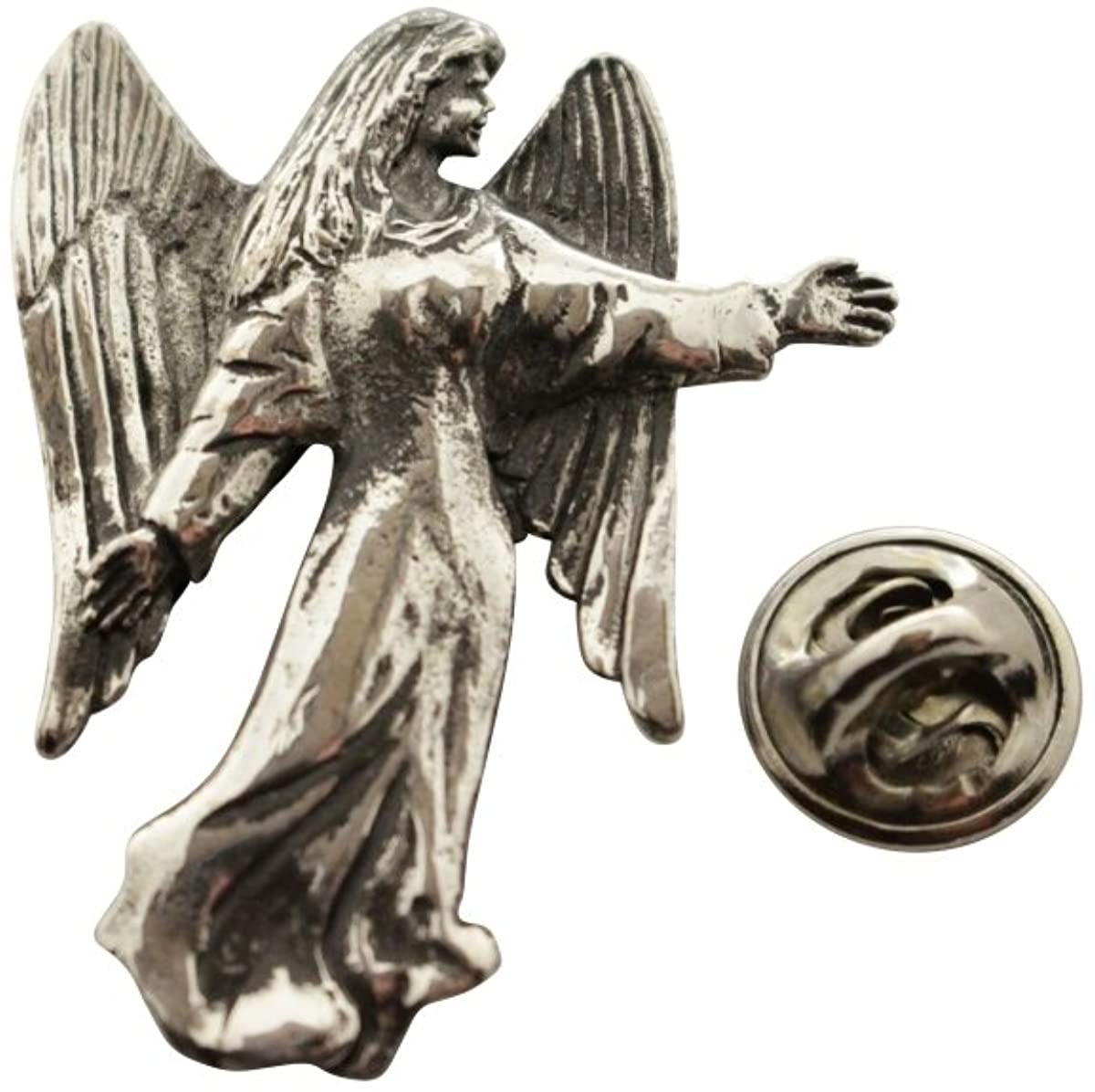 Angel Pin ~ Antiqued Pewter ~ Lapel Pin ~ Sarah's Treats & Treasures