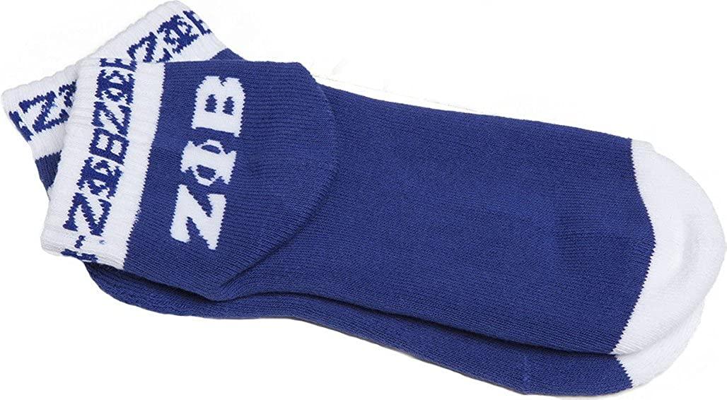 Zeta Phi Beta Ladies Pair Ankle/Bootie Socks