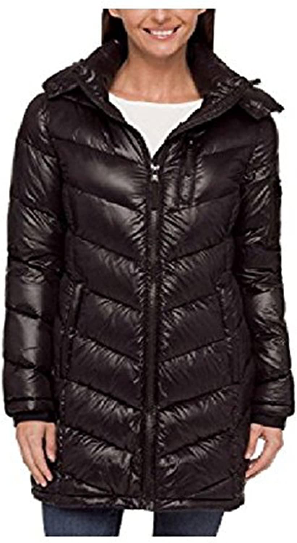 Andrew Marc Ladies Long Down Jacket (XL, Black)
