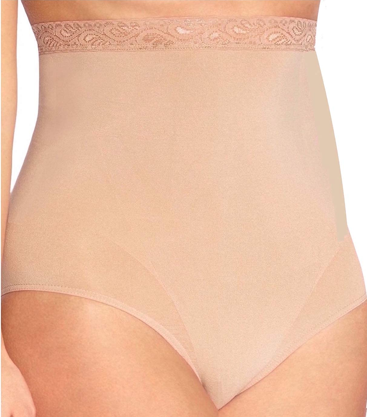 Body Wrap Plus Size High Waist Seamless Panty Brief Firm Control Shapewear Women Black & Beige
