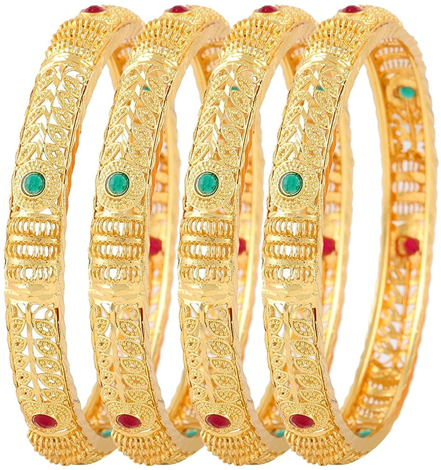 YouBella Ethnic Bollywood Gold Plated Traditional Bracelets Bangles Jewellery for Women and Girls