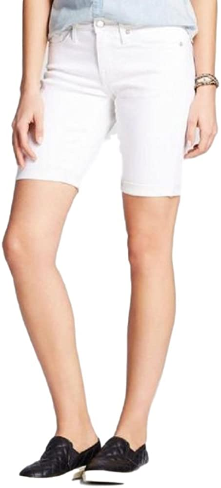 Mossimo Women's Mid Rise Bermuda Short White Size 16