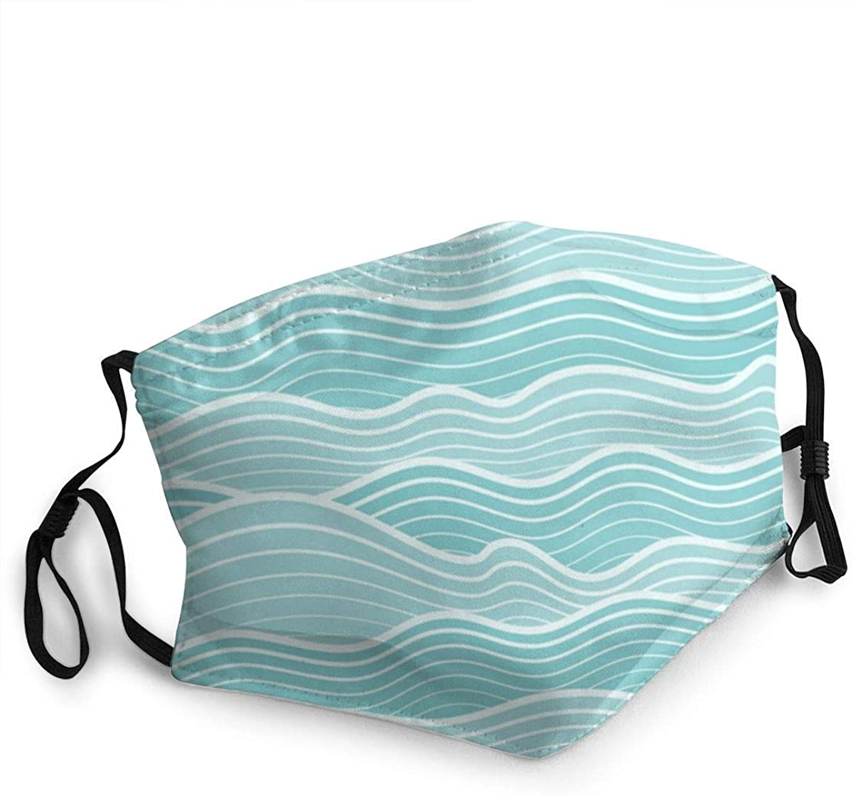 Abstract Wave Sea Ocean Dustproof Windproof Face Mask,Reusable,Washable Cloth,Face Cover