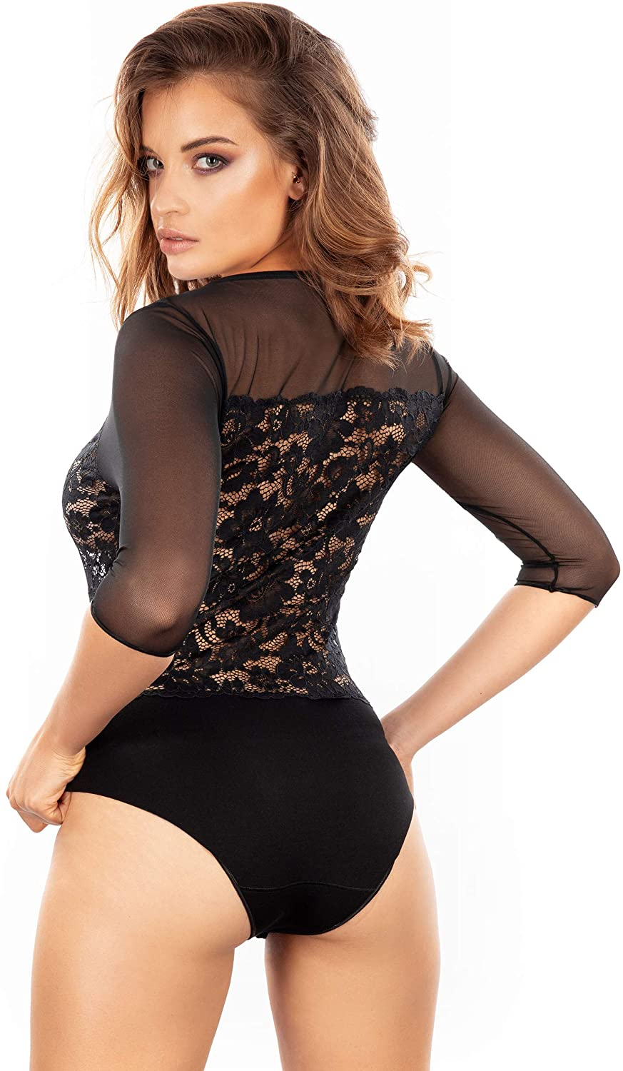 EGI Exclusive Collections Black Lace Bodysuit. Proudly Made in Italy.