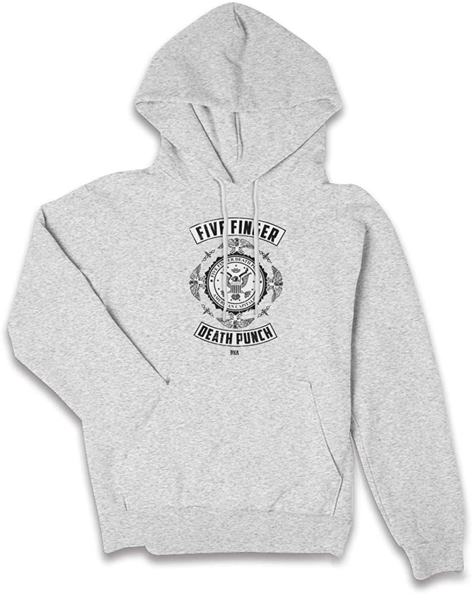 GanCheng Women's Fresh 5 Finger Death Punch Bird Punch Black Hoodie Classic Hood for Women Sweatshirt
