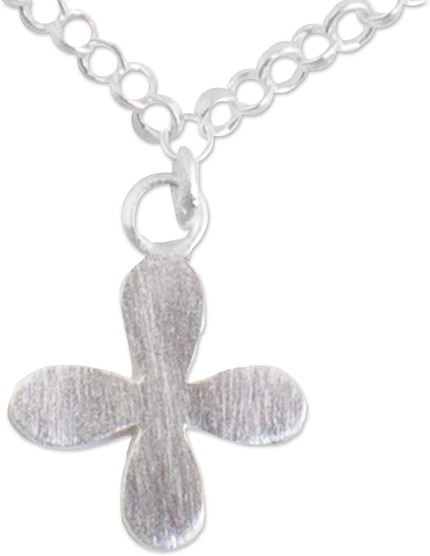 NOVICA .925 Sterling Silver Chain Anklet, 9.75
