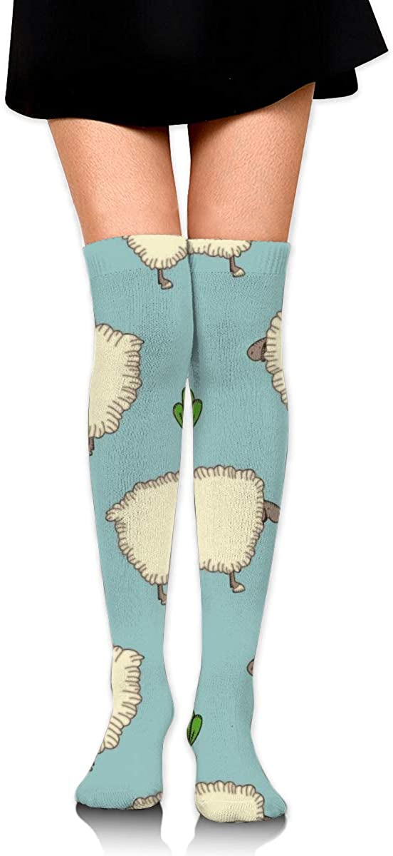 Dress Socks Goat Sheep Cartoon Animal High Knee Hose Soccer Hold-Up Stockings