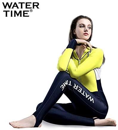 WATERTIME Women Diving Skin Surf Full Suit Freedive Lycra Swimwear Rashguard Jumpsuit
